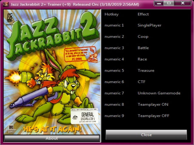 Jazz Jackrabbit 2 Trainer